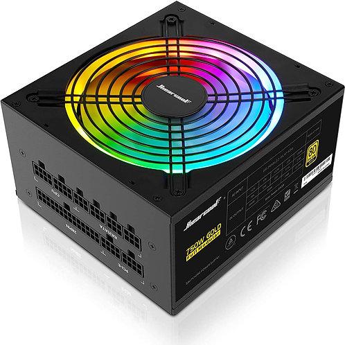Hiearcool 750W, RGB Power Supply Fully Modular 80+ Gold PSU