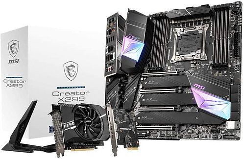 MSI Gaming Intel X299 LGA 2066 Thunderbolt M3 Wi-Fi 6 10G LAN DDR4 USB3.2 Gen 2