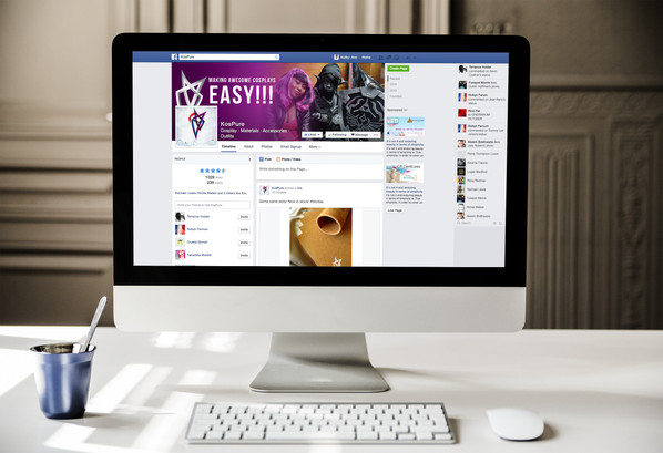 Facebook page (mock up)