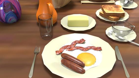 Breakfast Render Close Up