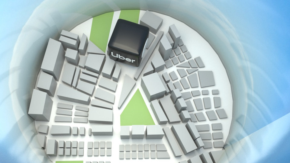 City Overview 3D Render