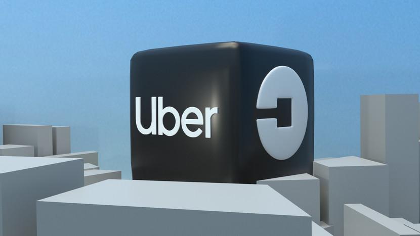 Uber Logo 3D Render