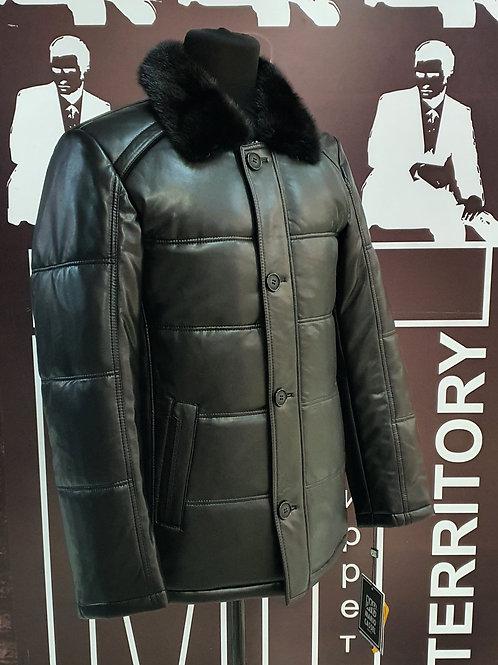 Куртка зима экокожа