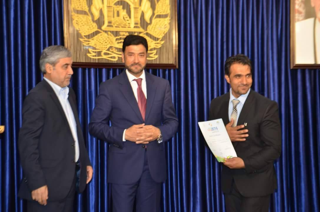 Mohammad Dawood Hashimi - present General Zahir Aghbar & Mr. Dr. Abdullah Abdullah