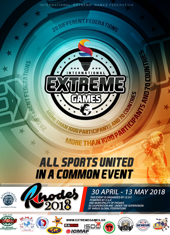 Interntional extreme games poster rhodes championhips 2018