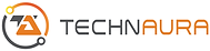 Technaura Company Logo Orange Grey