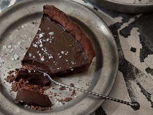 Receita de torta de chocolate com flor de sal