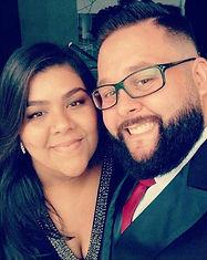 Daniela e seu noivo