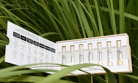 Echantillons de parfums biologiques naturels et éco-responsables
