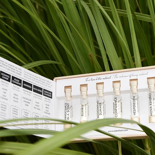 7 parfums naturelles biologiques coffret découverte fragrances perfums discovery sets cosmos organic natural