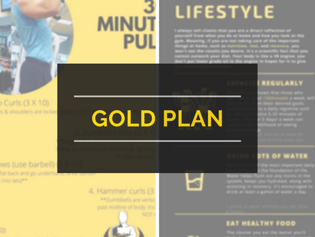 Gold Plan Weekly workouts/ Wellness tips/Technique video [Wk of 04/25/2021]