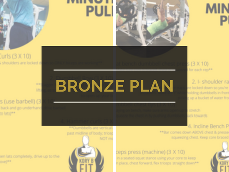 Bronze Plan Weekly workouts [Wk of 04/25/2021]