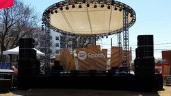 Spotify Custom Circle Roof SBSW 2