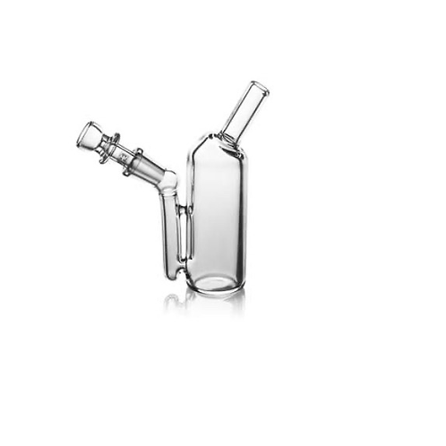 GraV Labs Small upright mini rig. Comes with a quartz bucket and flower slide
