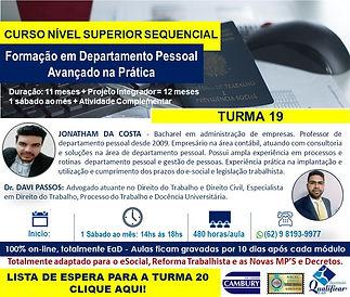 DP TURMA 19 - LISTA DE ESPERA PARA TURMA