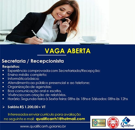 SECRETARIA - RECEPCIONISTA - QUALIFICAR
