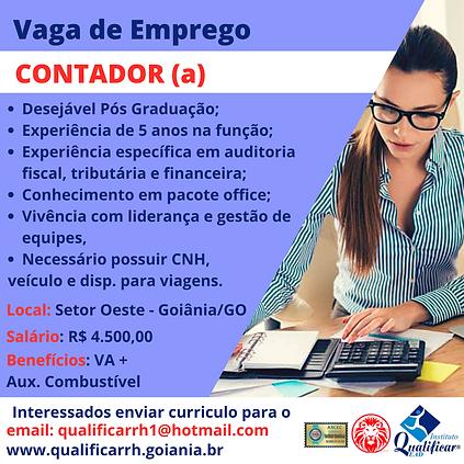 VAGA DE EMPREGO CONTADORA - QUALIFICAR R