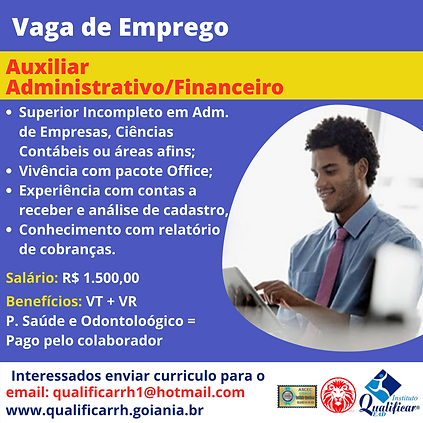 Vaga de Emprego Auxiliar Administrativo_