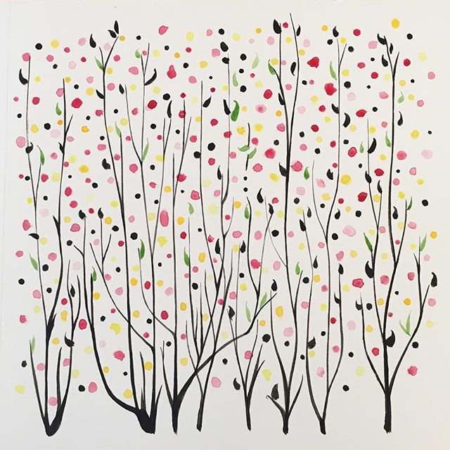 番茄炒蛋加点葱_Some dots of spring colors… and initials in Morse code