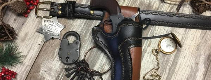 Frontier's Dual Leather Cowboy Holster and Standard Belt