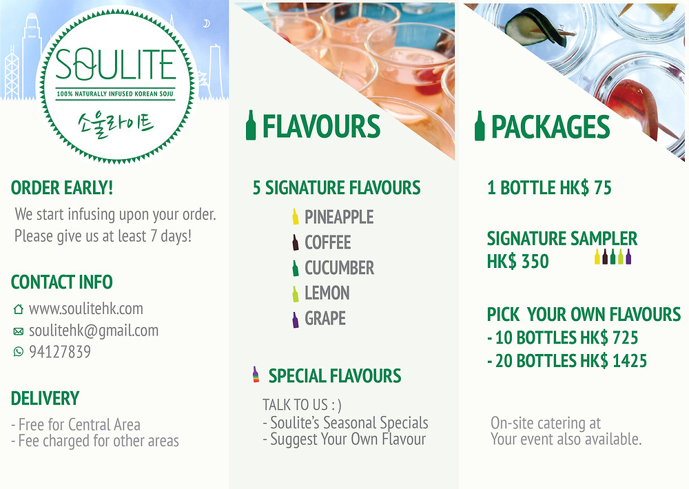 Soulite Flavours & Packages