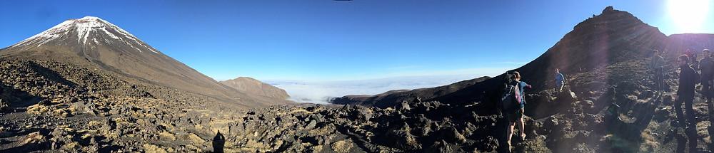 Beginning the hike- Mt. Ngauruhoe (Mt. Doom in LOTR)