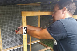 Jason with his aviaries