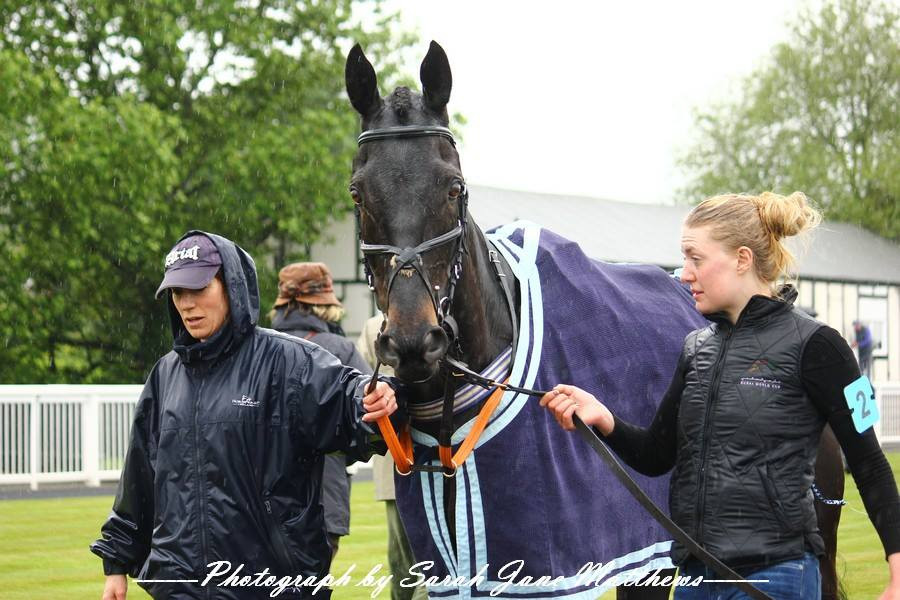 Heroes in the pouring rain at Worcester before his win with Ash and our Sal
