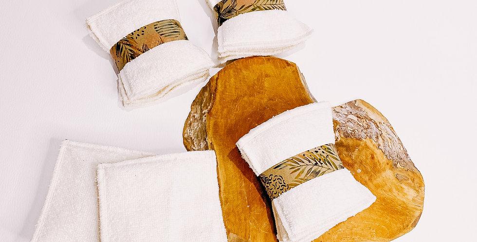 Coton/ lingette bambou, lavables et réutilisables....