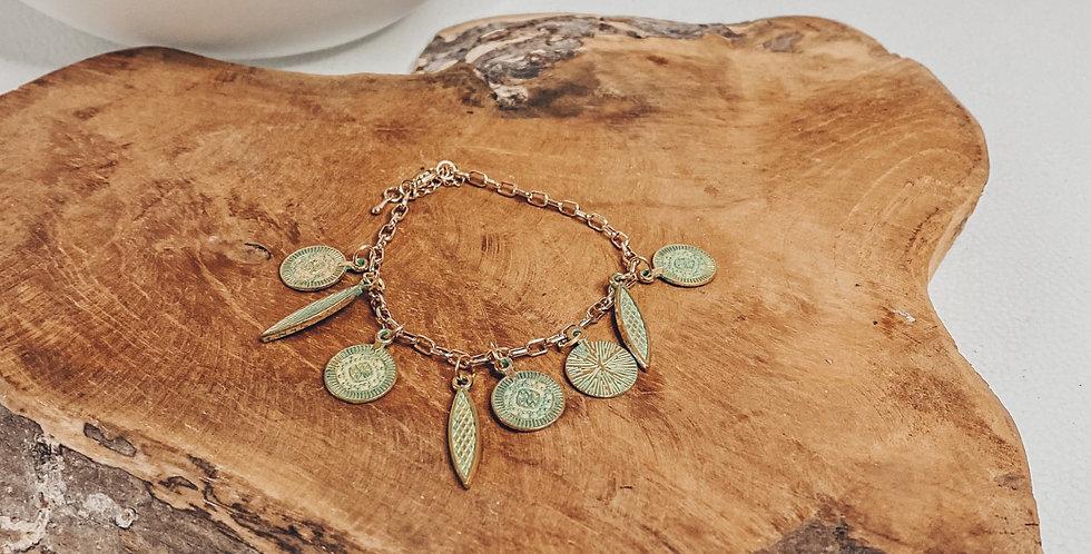 """EMY"", bracelet, réglable, perles, doré..."