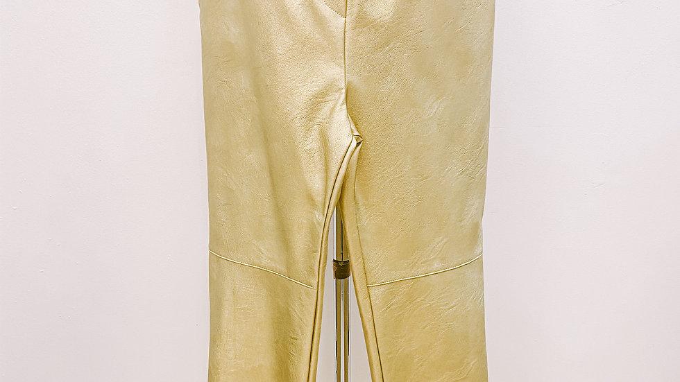 Pantalon simili, doré...