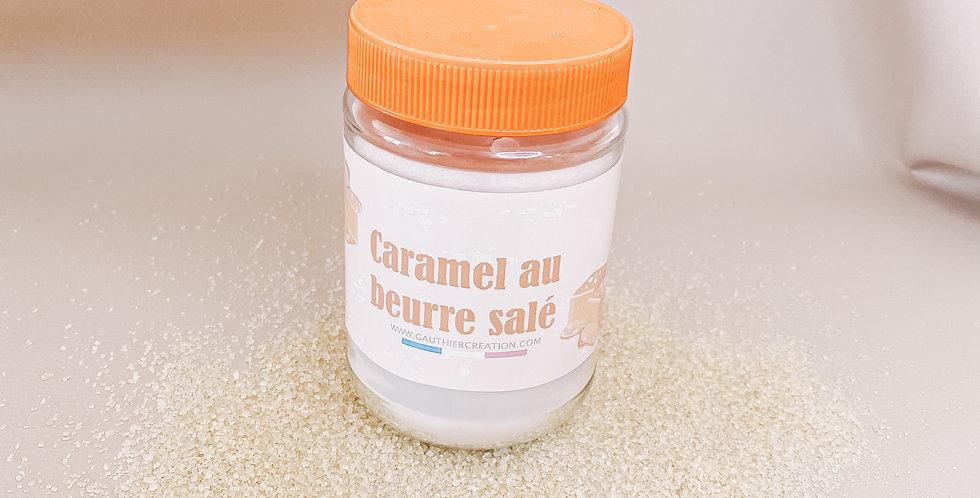 Bougie CARAMEL AU BEURRE SALE, bougeoir en verre...