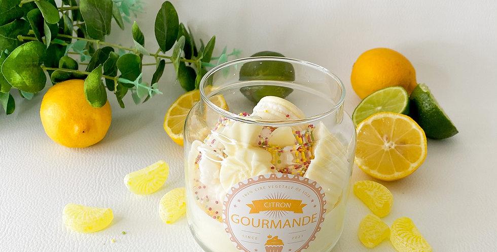 GIANT GOURMANDE, citron, bougeoir en verre...