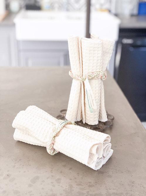 """Essuie-tout """"nid d'abeille"""", lavables et réutilisables..."""