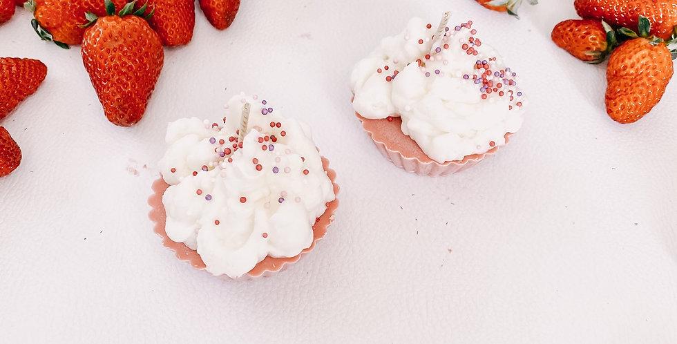 Bougies CUPCAKE, fraise ...