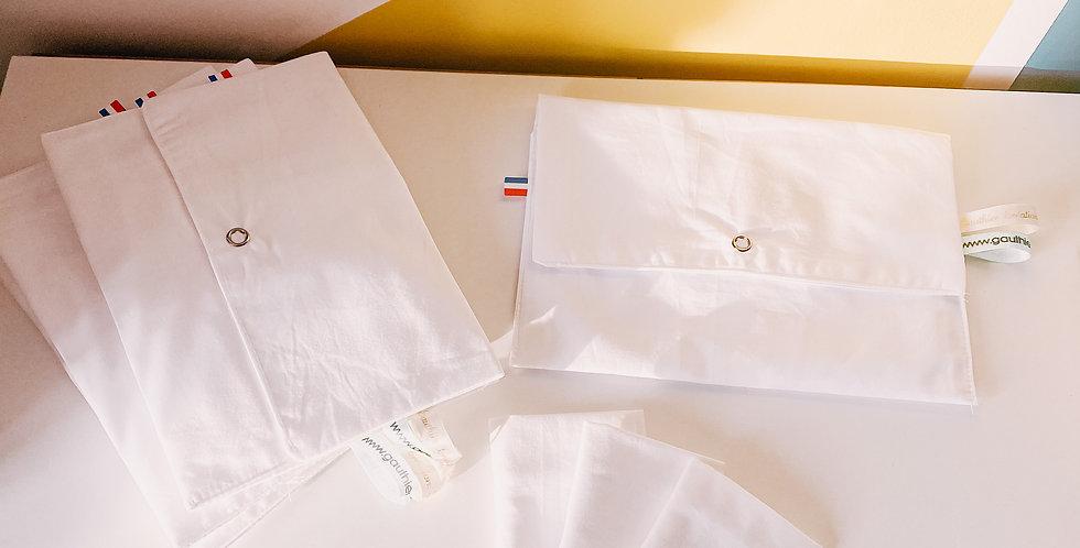 Paquet de mouchoirs, lavables et réutilisables, blanc...