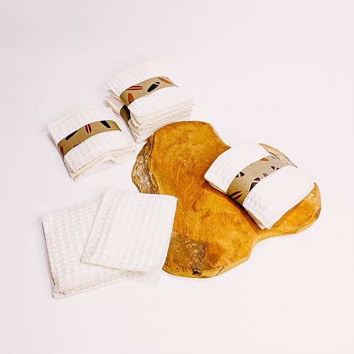 Coton/ lingette, lavables et réutilisables, nid d'abeille......