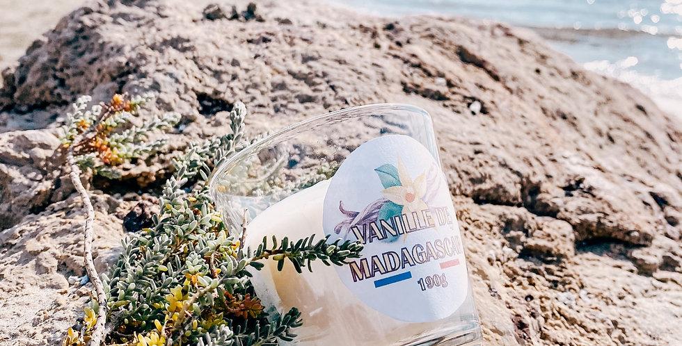Bougies VANILLE DE MADAGASCAR , bougeoir en verre...