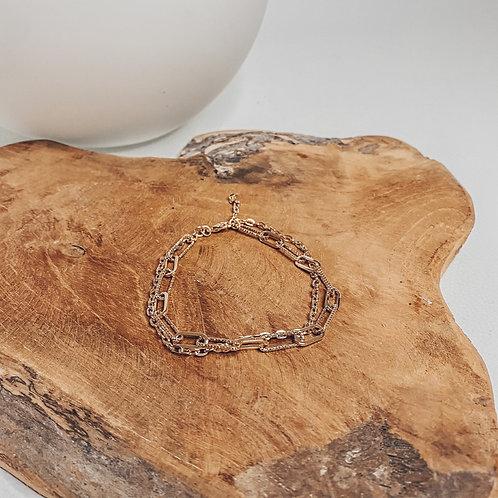 """EMOA"", bracelet, réglable, perles, doré..."