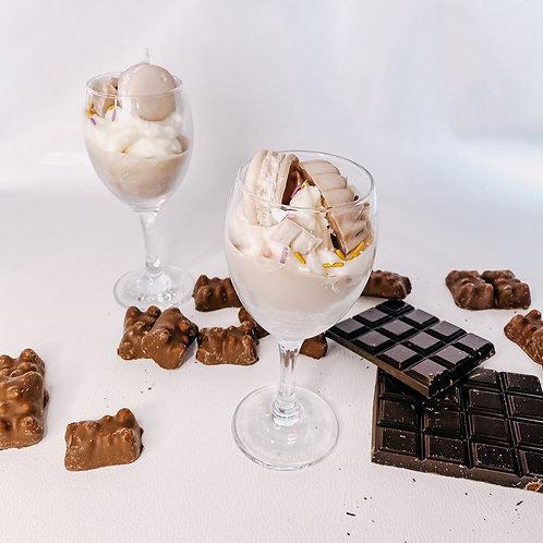 VERRE GOURMAND, chocolat, bougeoir en verre...