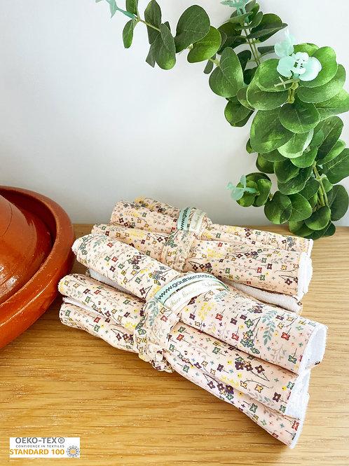 Essuie-tout, lavables et réutilisables, éponge et tissus...