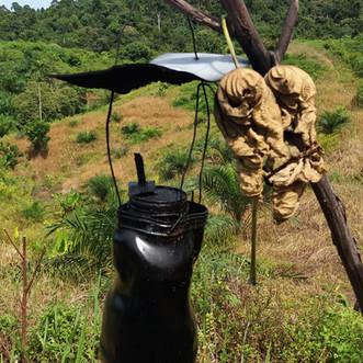 Kerosene lanterns to deter elephants from community gardens