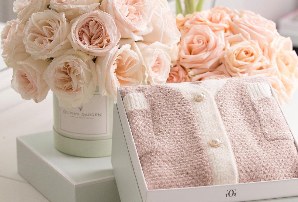 Romance Medley - Roses & Fresh Flower Cake + Chocolates Gift Set