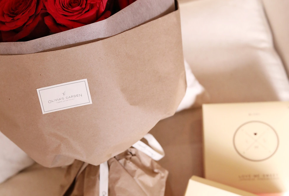 My Valentine - Roses & Cheesecake Gift Set