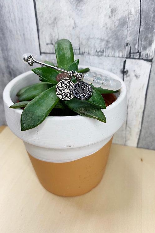 Lotus Om Symbol Bracelet