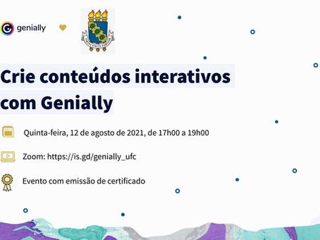 Plataforma Genially e Curso de Jornalismo oferecem oficina para criação de conteúdos interativos