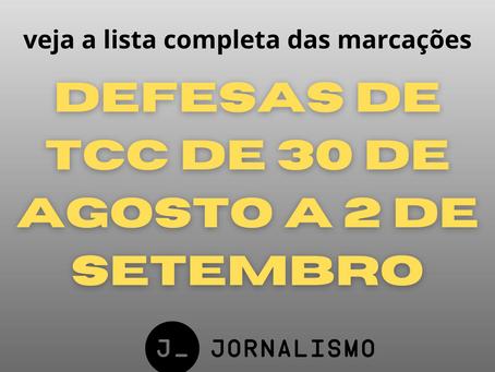 Confira a lista das defesas de TCC de 2021.1