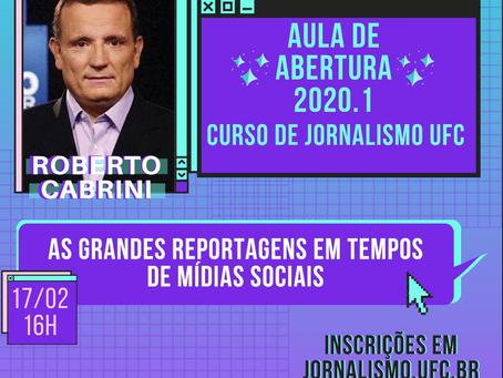 Roberto Cabrini abrirá o semestre letivo no Curso de Jornalismo