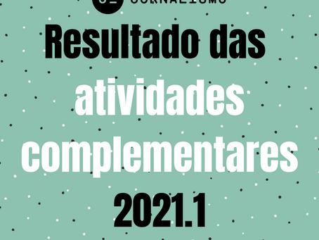 Divulgado resultado das atividades complementares 2021.1