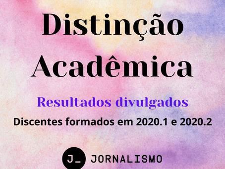 Divulgado resultado da distinção acadêmica de 2020